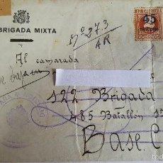 Sellos: ANTIGUO SOBRE CORREO CAMPAÑA DE 212 BRIGADA MIXTA -BATALLON -Nº 528-C.C.Nº-19 -. Lote 59062610