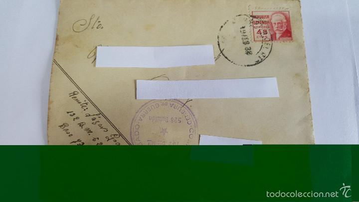 ANTIGUO SOBRE CORREO CAMPAÑA 132 BDA MTA COMISARIO DELEGADO - CENSURA GUERRA -Nº 528- (Sellos - España - Estado Español - De 1.936 a 1.949 - Usados)