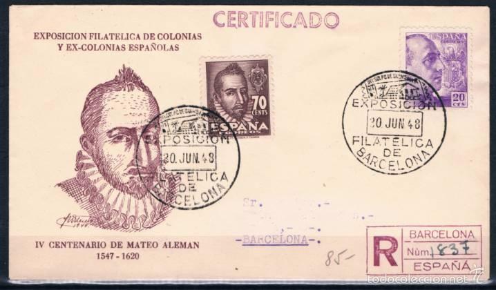 1948.- BARCELONA INTERIOR (Sellos - España - Estado Español - De 1.936 a 1.949 - Cartas)