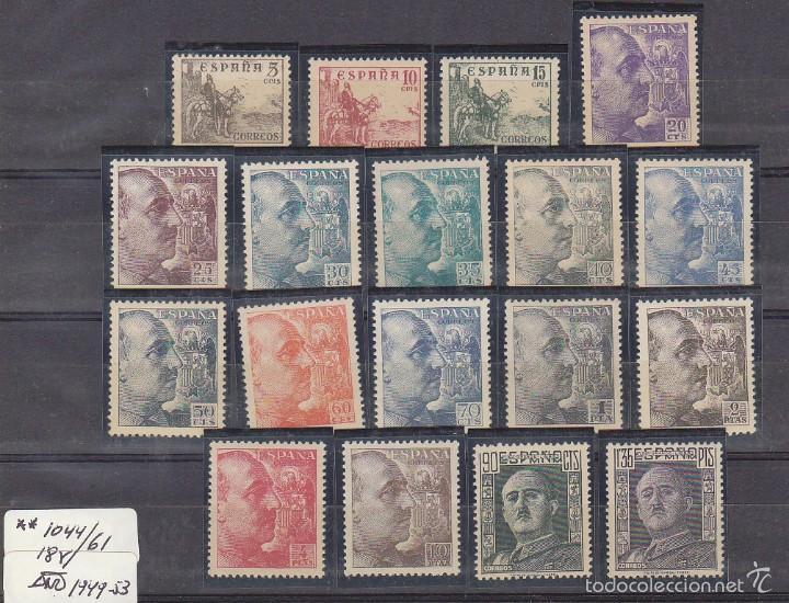 XX 1044/61 GENERAL FRANCO 1949/53 (Sellos - España - Estado Español - De 1.936 a 1.949 - Nuevos)