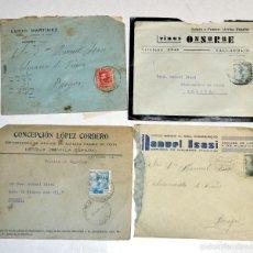 Sellos: EXCELENTE LOTE DE 4 CARTAS FRANQUEADAS. AÑO 1935-1945 LOGROÑO- VALLADOLID- JEREZ DE LA FRONTERA- PAL. Lote 60953107