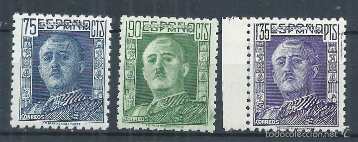 R10.G4/ ESPAÑA 1946/47, GENERAL FRANCO, CAT. 20,75€, EDF. 999/1001, NUEVOS** (Sellos - España - Estado Español - De 1.936 a 1.949 - Nuevos)