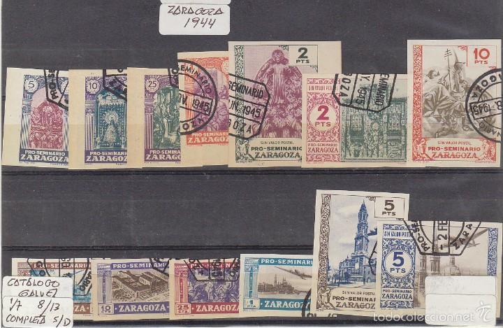 PRO SEMINARIO DE ZARAGOZA : 1/13 CAT. GALVEZ. 1944 (Sellos - España - Estado Español - De 1.936 a 1.949 - Usados)