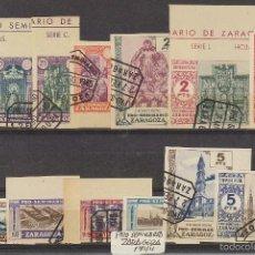 Sellos: PRO SEMINARIO DE ZARAGOZA : 1/13 CAT. GALVEZ. 1944. Lote 61317295