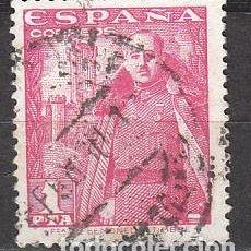Sellos: EDIFIL 1032, GENERAL FRANCO Y CASTILLO DE LA MOTA, USADO. Lote 61549928