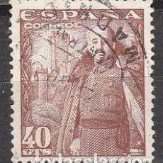 Sellos: EDIFIL 1027, GENERAL FRANCO Y CASTILLO DE LA MOTA, USADO. Lote 115560274