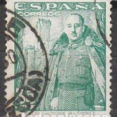 Sellos: EDIFIL 1026, GENERAL FRANCO Y CASTILLO DE LA MOTA, USADO. Lote 61550104