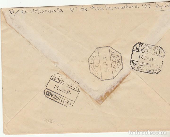 Sellos: SELLO : 1064 (PAREJA). CARTA . MADRID a TETUAN 1951. - Foto 2 - 61807936