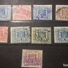Sellos: SELLOS DE TELEGRAFOS ESCUDOS DE ESPAÑA 1940. Lote 64308611