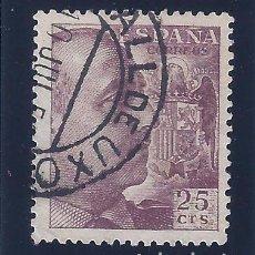Sellos: EDIFIL 1048A GENERAL FRANCO 1950. MATASELLOS VALL DE UXÓ (CASTELLÓN).. Lote 64712895