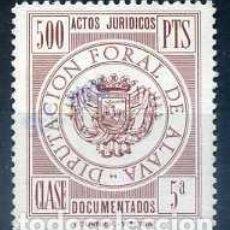 Francobolli: DIPUTACION FORAL DE ALAVA, CLASE 5A. QUINIENTAS PESETAS. Lote 66138850