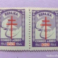 Sellos: ESPAÑA ESPANGE 1943 PRO TUBERCULOSOS EDIFIL N º 973 AEREO ** MNH YVERT Nº 226 PA ** MNH. Lote 66141646
