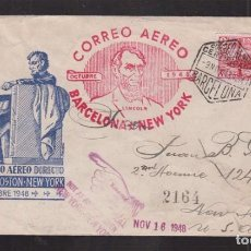 Sellos: 1948.- BARCELONA A N. YORK (USA). Lote 66854882