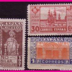 Sellos: 1937 AÑO JUBILAR COMPOSTELANO, EDIFIL Nº 833 A 835 * . Lote 68259005