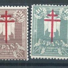 Sellos: R17.G4/ ESPAÑA EN NUEVO** 1942, EDF. 957/60, CAT. 13,50€, PRO TUBERCULOSOS. Lote 97494778