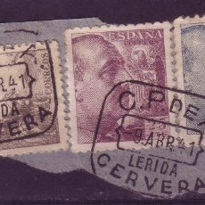 Sellos: ZZ28-FRANCO /CID MATASELLOS CAJA POSTAL CERVERA LÉRIDA . Lote 73607911