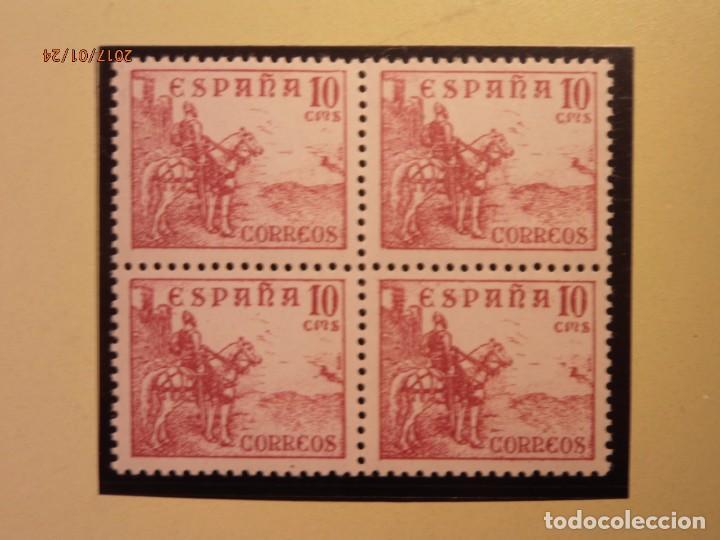 ESPAÑA - 1940 - CIFRAS Y CID - EDIFIL 917 - BLOQUE DE 4. NUEVOS (Sellos - España - Estado Español - De 1.936 a 1.949 - Nuevos)