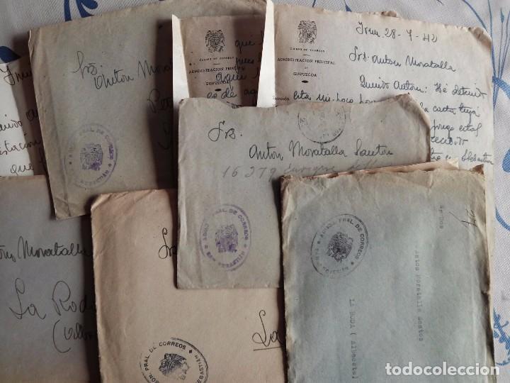 SAN SEBASTIAN FRANQUICIA DE CORREOS - AÑOS 40 - LOTE DE 5 CARTAS TAL FOTOS (Sellos - España - Estado Español - De 1.936 a 1.949 - Cartas)