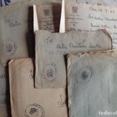 Sellos: SAN SEBASTIAN FRANQUICIA DE CORREOS - AÑOS 40 - LOTE DE 5 CARTAS TAL FOTOS. Lote 74029531