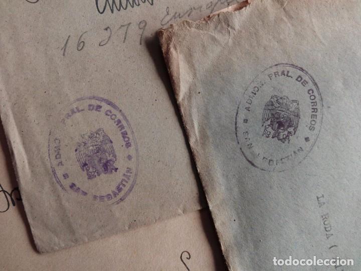 Sellos: SAN SEBASTIAN FRANQUICIA DE CORREOS - AÑOS 40 - LOTE DE 5 CARTAS TAL FOTOS - Foto 2 - 74029531
