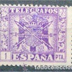 Sellos: [CF7206] ESPAÑA 1949, TELÉGRAFOS 1 PTS (U). Lote 194908358