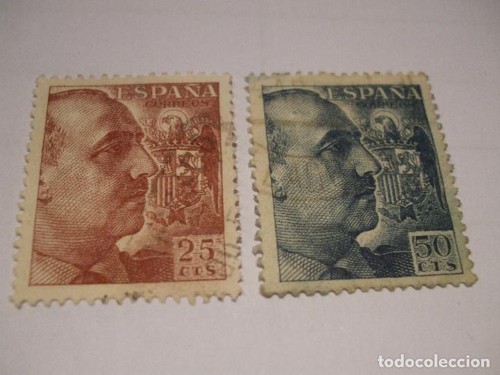 2 SELLOS FRANCO (Sellos - España - Estado Español - De 1.936 a 1.949 - Usados)