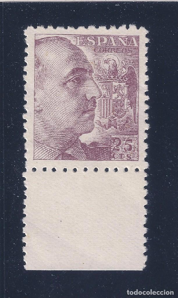 Sellos: EDIFIL 923 FRANCO 1940. (VARIEDAD...CIFRA DEL VALOR MUY INCLINADA). MNH ** - Foto 2 - 75137331
