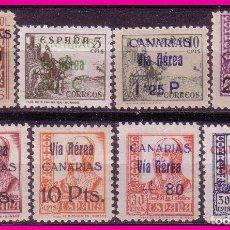 Briefmarken - CANARIAS, 1938 4 DE FEBRERO, EDIFIL nº 44 a 51 * serie completa - 76281543