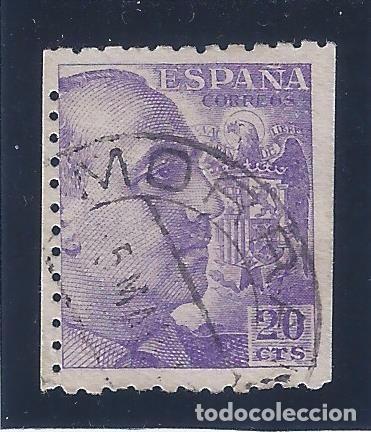 EDIFIL 922 GENERAL FRANCO 1940-1945 (VARIEDAD...DENTADO DE LINEA DESPLAZADO EN LADO IZQUIERDO) LUJO (Sellos - España - Estado Español - De 1.936 a 1.949 - Usados)