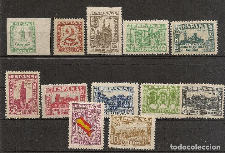 EDIFIL 802/813* JUNTA DE DEFENSA NACIONAL 1936-1937 NL600 (Sellos - España - Estado Español - De 1.936 a 1.949 - Nuevos)