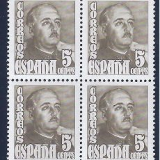 Sellos: EDIFIL 1020 GENERAL FRANCO 1948-1954 (BLOQUE DE 4). MNH **. Lote 104674064