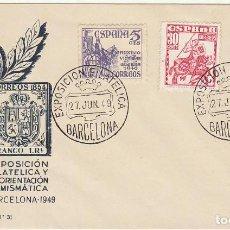 Sellos: EXPOSICIÓN FILATELICA -BARCELONA- 1949.. Lote 80077417