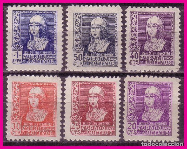 1938 ISABEL LA CATÓLICA, EDIFIL Nº 855 A 860 * * LUJO (Sellos - España - Estado Español - De 1.936 a 1.949 - Nuevos)