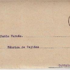 Francobolli: CARTA COMERCIAL ÚBEDA -JAÉN- DE TEJIDOS EL MÉTRICO DE VILLAR, OGAYAR Y TUÑON - DOBLE CARTA -1943. Lote 81195852