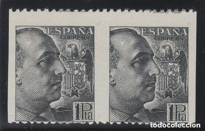 ESPAÑA ED. 875 SV , 1 PTA AÑO 1939 FRANCO - VARIEDAD DE PERFORACIÓN , SIN DENTADO VERTICAL - NUEVO (Sellos - España - Estado Español - De 1.936 a 1.949 - Nuevos)