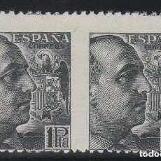 Sellos: ESPAÑA ED. 875 SV , 1 PTA AÑO 1939 FRANCO - VARIEDAD DE PERFORACIÓN , SIN DENTADO VERTICAL - NUEVO. Lote 81591564