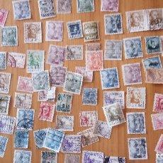 Sellos: 100 SELLOS CIRCULADOS DE ALFONSO XIII, REPUBLICA Y FRANCO. Lote 82014112
