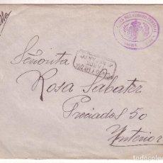 Sellos: F16-29-CARTA FRANQUICIA CORREO CENTRAL MADRID 1925.DORSO LLEGADA FECHADOR DISTRITO 2 CARTERIA. TEXTO. Lote 83242044