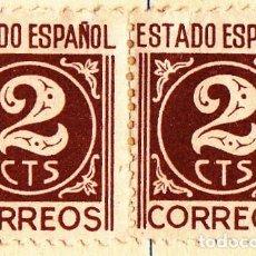 Sellos: 1940 - CIFRAS Y CID - EDIFIL 915 BLOQUE DE 2. Lote 83353888