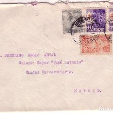 Sellos: F16-79- CARTA URGENTE VALENCIA MADRID 1954 CON PAREJA TUBERCULOSOS 1947. VER DORSO. Lote 83427524
