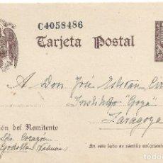 Sellos: POSTAL MATASELLO AMBULANTE GODELLA VALENCIA A ZARAGOZA DIRECCION BUZONES NEUTRALES GUERRA CIVIL. Lote 83712772