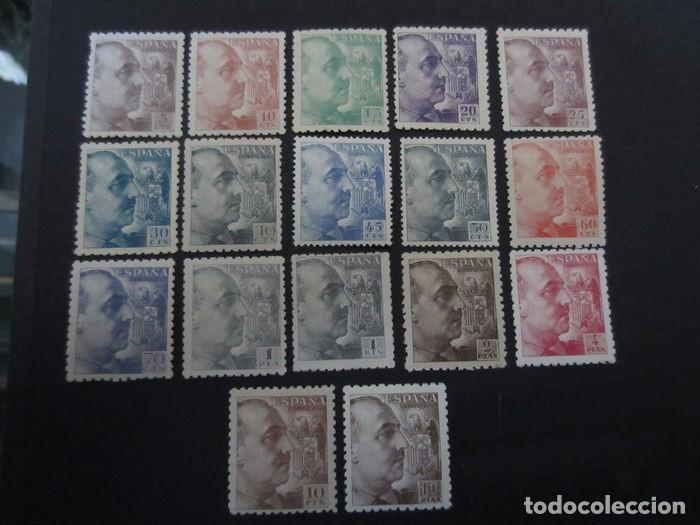 EDIFIL 919/935 GENERAL FRANCO NUNCA ABISAGRADOS. MNH NUEVOS. AÑO 1940 (Sellos - España - Estado Español - De 1.936 a 1.949 - Nuevos)