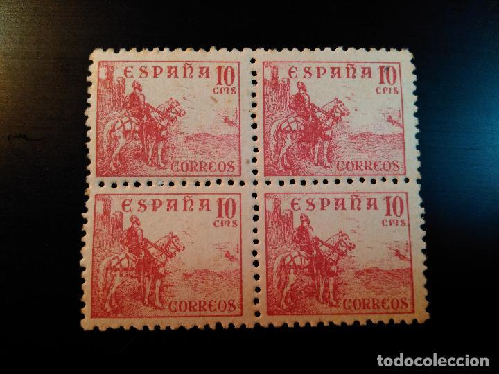 ESTADO ESPAÑOL. CIFRAS Y CID. EDIFIL Nº 917. 1940. BLOQUE DE 4 (Sellos - España - Estado Español - De 1.936 a 1.949 - Nuevos)