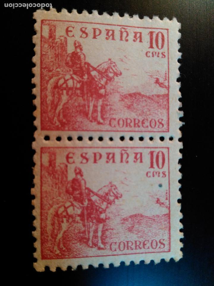 ESTADO ESPAÑOL. CIFRAS Y CID. EDIFIL Nº 917. 1940. BLOQUE DE 2 (Sellos - España - Estado Español - De 1.936 a 1.949 - Nuevos)