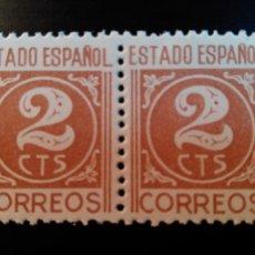 Sellos: ESTADO ESPAÑOL. CIFRAS Y CID. EDIFIL Nº 915. 1940. BLOQUE DE 2. Lote 84952276