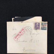 Sellos: CARTA CON CORRESPONDENCIA. SELLADA. CENSURA MILITAR - MASNOU. A BARCELONA. 1939.. Lote 84953820