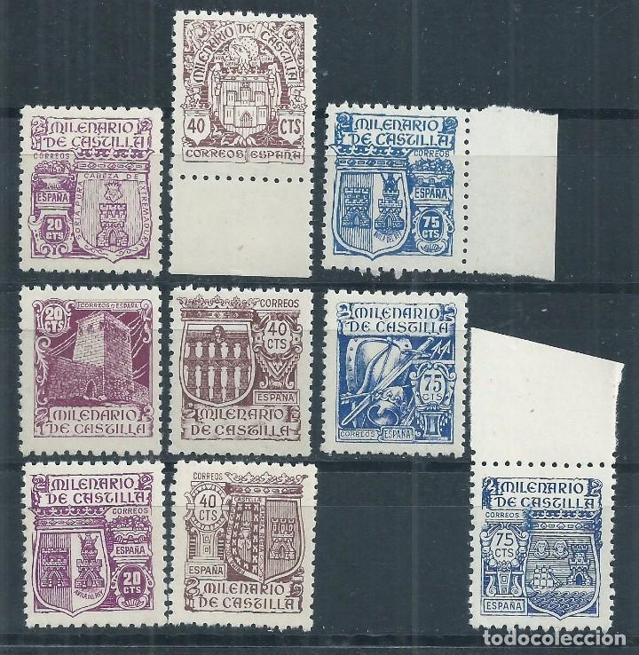 R16 .G1/ ESPAÑA 974/82 ** MNH, 1944, CAT. 50,00€, MILENARIO DE CASTILLA (Sellos - España - Estado Español - De 1.936 a 1.949 - Nuevos)