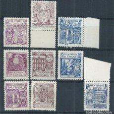 Sellos: R16 .G1/ ESPAÑA 974/82 ** MNH, 1944, CAT. 50,00€, MILENARIO DE CASTILLA. Lote 85208888