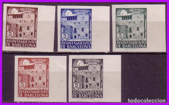BARCELONA 1943 CASA PADELLES, EDIFIL Nº 42S A 46S (*) (Sellos - España - Estado Español - De 1.936 a 1.949 - Nuevos)