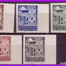 Sellos: BARCELONA 1943 CASA PADELLES, EDIFIL Nº 42S A 46S (*). Lote 86058864